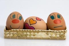 Tres huevos Imagenes de archivo