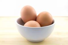 Tres huevos Fotografía de archivo