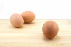 Tres huevos Foto de archivo libre de regalías