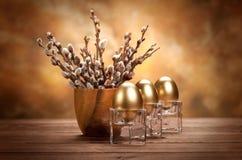 Tres huevos de oro Imagenes de archivo