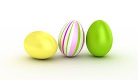 Tres huevos de Pascua. Imagen de archivo libre de regalías