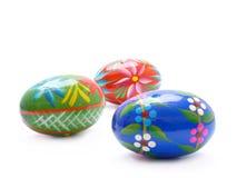 Tres huevos de Pascua Fotos de archivo