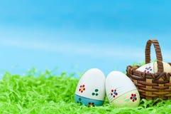 Tres huevos de Pascua Fotografía de archivo
