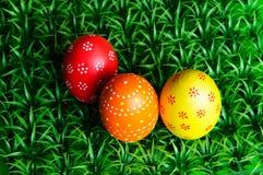 Tres huevos de Pascua fotografía de archivo libre de regalías