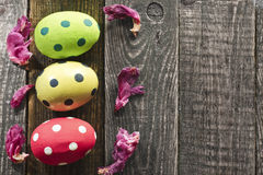 Tres huevos de Pascua Imagen de archivo