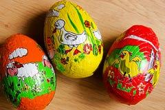 Tres huevos de Pascua Foto de archivo libre de regalías