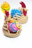 Tres huevos de Pascua aislados Fotografía de archivo