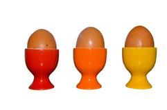 Tres huevos hervidos fotografía de archivo