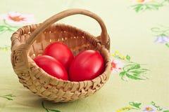 Tres huevos rojos Foto de archivo libre de regalías
