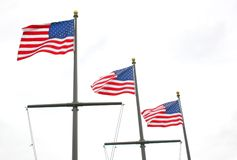 Tres banderas Imagen de archivo libre de regalías