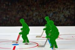 Tres jugadores de hockey Fotografía de archivo libre de regalías