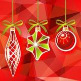 Tres juguetes de la Navidad libre illustration