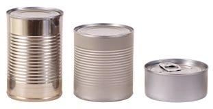 Tres latas de estaño Foto de archivo