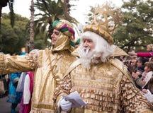 Tres letras de la toma de los reyes Imagen de archivo
