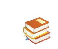 Tres libros. Foto de archivo libre de regalías