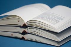 Tres libros abiertos Fotografía de archivo libre de regalías