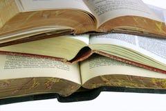 Tres libros abiertos Imagen de archivo libre de regalías