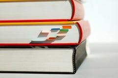 Tres libros de la pila Fotografía de archivo libre de regalías
