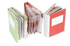 Tres libros de regalo miniatura Fotografía de archivo