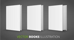 Tres libros del vector Imagenes de archivo