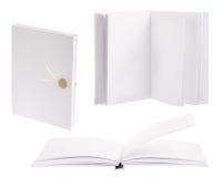 Tres libros ligeros aislados en blanco Fotografía de archivo libre de regalías