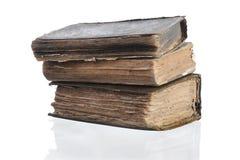 Tres libros viejos Imagen de archivo libre de regalías