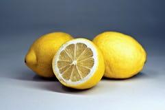 Tres limones Foto de archivo libre de regalías