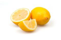 Tres limones frescos Foto de archivo libre de regalías