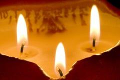 Tres llamas Imagenes de archivo