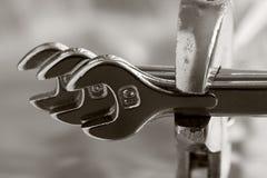 Tres llaves inglesas Fotos de archivo libres de regalías