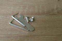 Tres llaves y sraffs del metal Foto de archivo libre de regalías