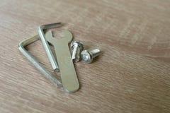 Tres llaves y sraffs del metal Imagen de archivo libre de regalías