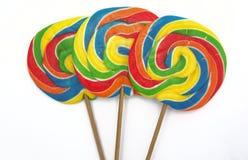 Tres lollipops Fotos de archivo libres de regalías
