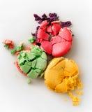 Tres macarons aplastados Imágenes de archivo libres de regalías