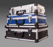Tres maletas Imagen de archivo libre de regalías