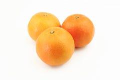 Tres mandarines Imagen de archivo