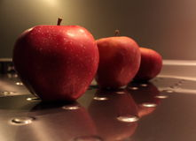 Tres manzanas Imagen de archivo libre de regalías