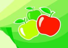 Tres manzanas stock de ilustración