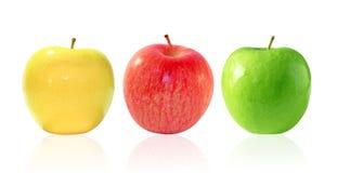 Tres manzanas Fotos de archivo