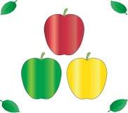 Tres manzanas Fotografía de archivo