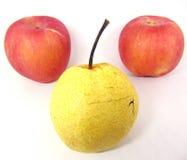 Tres manzanas Fotografía de archivo libre de regalías