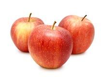 Tres manzanas rojas Fotografía de archivo