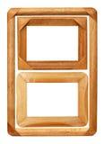 Tres marcos de madera de la foto foto de archivo