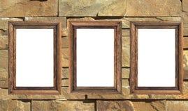 Tres marcos en blanco imagen de archivo