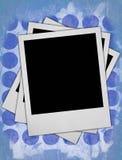 Tres marcos en blanco de la foto Foto de archivo