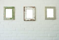 Tres marcos encontrados en la pared Imagen de archivo libre de regalías
