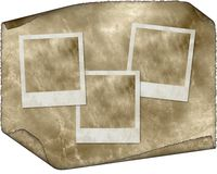 Tres marcos inmediatos retros de la foto de la vendimia Imagen de archivo