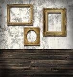 Tres marcos vacíos Imágenes de archivo libres de regalías