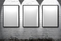 Tres marcos vacíos Imagenes de archivo