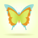 Tres mariposas con colores de la vendimia Fotos de archivo libres de regalías